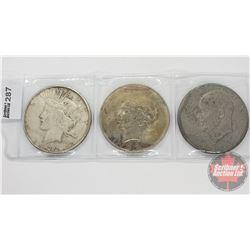 US Dollar (3): 1922; 1927; 1974