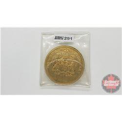1967 Canada Centennial $20 Gold Plated Coin Sudbury, Ontario