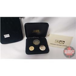 1981 Johnson Matthey Limited Edition Prince Charles to Lady Diana Spencer 3-coin Gold, Silver, & Nic