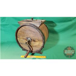 """Wooden Table Top Butter Churn (16""""H)"""