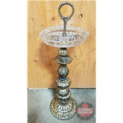 """Floor Ashtray (Glass Ashtray) (20""""H without handle)"""