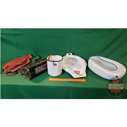 Vintage Home Care Items (Foot Warmer, Bed Pans, Water Bottles, etc)