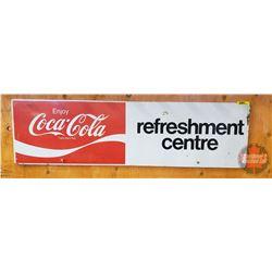 "Enjoy Coca-Cola ""Refreshment Centre"" Tin Sign/Machine Insert (36"" x 10"" )"