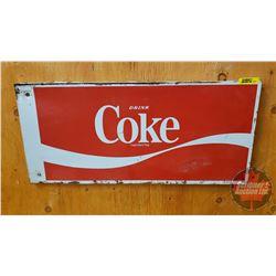 "Drink Coke - Tin Sign/Machine Insert (22"" x 10"")"