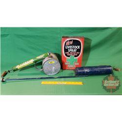 Vintage Sprayers (2) & Livestock Spray Tin