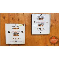 """Porcelain Gas Pump Face Covers (2)  (12"""" x 11"""" x 1""""D)"""