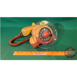 Vintage Airplane Rotary Telephone (Northern Telecom) Two Tone Orange (Lucite Clear Propeller)
