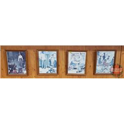 """Framed Norman Rockwell Prints (4) (13"""" x 16"""")"""