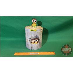 Cookie Jar: Tree Trunk/Owls