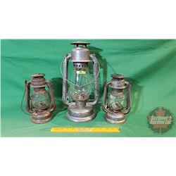 "Barn Lantern Trio (Beacon 15""H ; Feuerhand 9""H ; Feuerhand 9""H)"