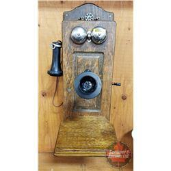 "Wood Box Telephone ""Chicago Telephone Supply Co."""