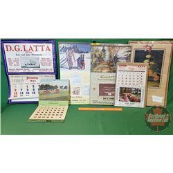 Calendar Collection - Variety (6): 1952; 1955; 1956; 1957; 1958