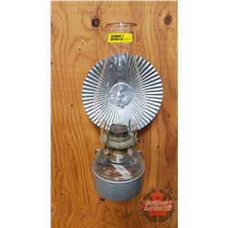 Wall Mount Oil Lamp w/Deflector