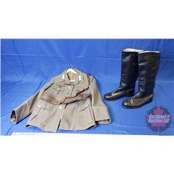 Re-enactment German WWII Tunic Coat, Boots & Belt