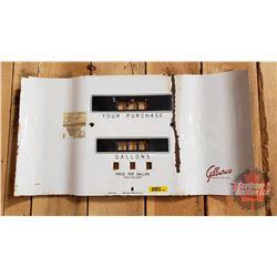 "Porcelain Gas Pump Face Cover ""Gilbarco"" (11-3/4""H x 21-1/2""W)"