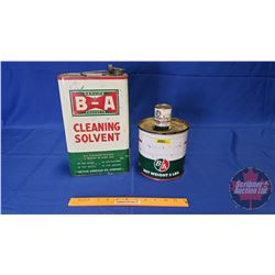 B/A Tin Collector Trio: Grease, Gas Line AntiFreeze & Cleaning Solvent