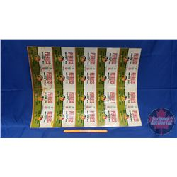 """UNCUT Tin Sheet of Oil & Gas """"MISPRINTED"""" (Note: Has Esso, B/A, Sunoco) (Double Sided!) (25"""" X 34"""")"""