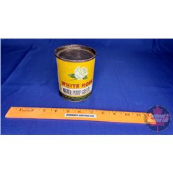 "White Rose Water Pump Grease Tin (Partial Full) (4-3/8""H)"