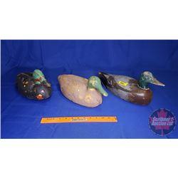 Duck Decoys (2 Foam & 1 Wood)