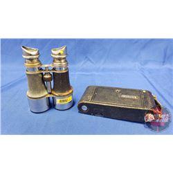 Vintage Binoculars & Kodak Camera