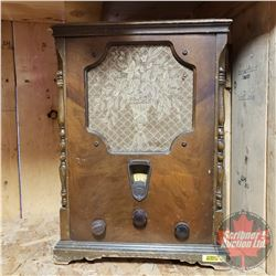 "Antique General Electric (Type S22) Desk Top Radio (16""H x 14""W x 10""D)"