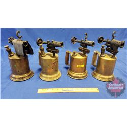 Collection of Brass Blow Torches (4)