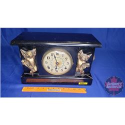 "Sessions Mantle Clock ""Cherub"" Motif (9-1/2""H x 15""W x 5""D)"
