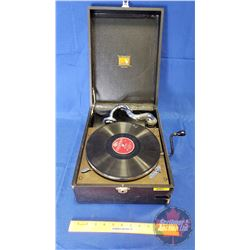 "Portable Gramophone: The Gramophone Company Ltd. Hayes Middlesex Made in GT Britain ""His Masters Voi"