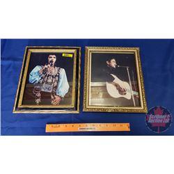 """Framed Pictures (2): Elvis & Johnny Cash (Frames 10""""x 12"""")"""