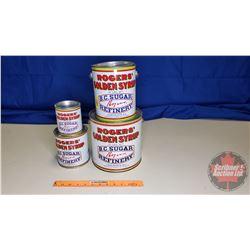 Rogers' Syrup Tins (4): 20lb, 10lb, 5lb, 2lb