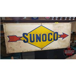 "Sunoco Metal Sign (36""W x 15""H) Double Sided"