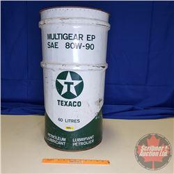 "Texaco Gear Oil Drum - 60 Litres (27""H)"