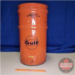 "Gulf Gear Oil Drum - 60 Litres (27""H)"