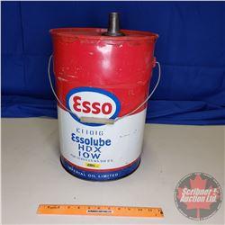 """Esso Five Gallon Oil Pail (16""""H)"""