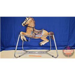 "Vintage Bouncy Horse (40""H)"