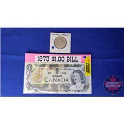 Canada 1954 Fifty Cent & Canada 1973 $1 Bill