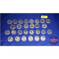 1980 Moscow Russia Olympics Proof Silver Coin set! 28pcs  (No COA, No Case)