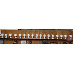 17 Styrofoam Mannequin Heads