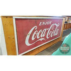 "Coca-Cola Tin Sign (Framed) (47""H x 118""L)"