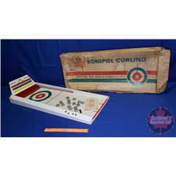 """White Rose Bonspiel Curling Game with Orig Box (Game Measures 38""""L x 15""""W)"""