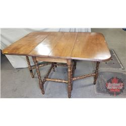 """Combination Table (Butterfly/Drop Leaf) : (Smallest Size = 20"""" x 36"""" x 30""""H) & (Largest Size = 62"""" x"""