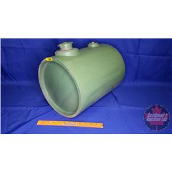 """Mystery Wood Drum - Green Painted - Fuel Style Cap - Pivot Holes !? (12""""Dia x 16""""H)"""