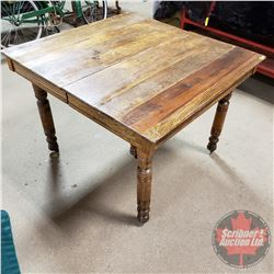 """5 Leg Dining Table with 2 Leaves (Size without Leaves 40"""" x 41"""" x 30""""H) (Each Leaf is 8"""")"""