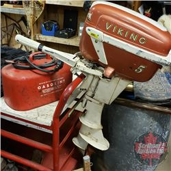 Viking 5 Boat Motor with Gas Tank