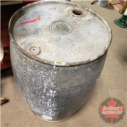 """Large Galvanized Gasoline Drum """"The Imperial Oil Co. Limited"""" Manfd Oct 1912  (33""""H)"""