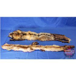 Pair of Fur Stoles (2) (Measurement in Pics)