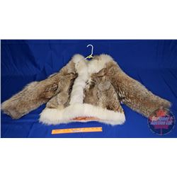 """Fur Coat with Hood  """"Leather Ranch Label"""" (Appears size Small)"""
