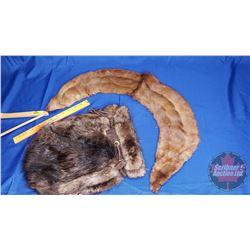Beaver Fur Pouch & Fur Stole