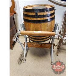 Beatty Bros. Ltd. Wood Barrel Butter Churn