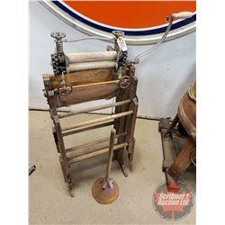 """Maple Leaf Wash Bench Wringer Washer w/Plunger Washer (42""""H)"""